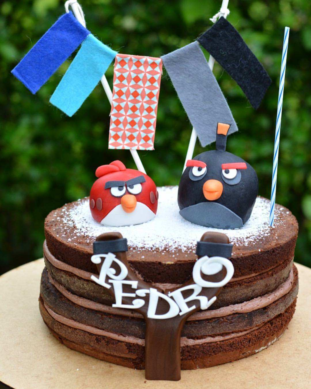 Angry Birds Naked Cake Sweet Dekor The Handmade Concept At Your